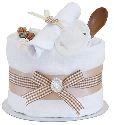 Preisvergleich Produktbild Signature Beige étagère simple gâteau de couches Unisexe/Panier/Baby Pour Bébé Douche cadeau idées/maternité Laisse/nouveau bébé cadeau/envoi rapide