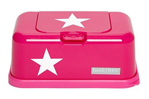 Funkybox Feuchttücherbox in Pink mit Stern, Baby Feuchttücher Spender