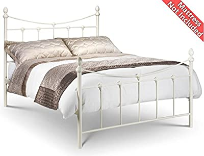 Julian Bowen King Sized Rebecca White Bed Frame - inexpensive UK light shop.