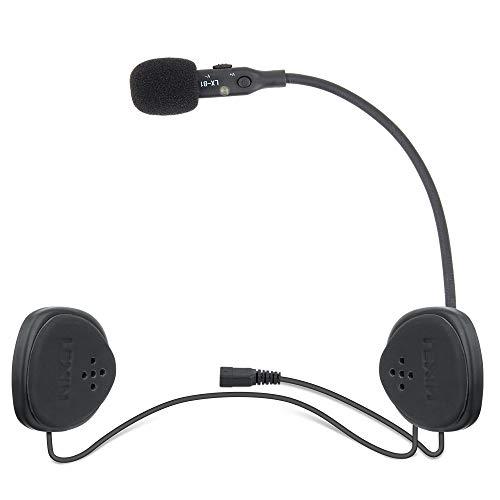 LEXIN B1 Motorradhelm Headset, Motorrad Bluetooth Headset mit Mikrofon, Handfrei Helm HD Lautsprecher Kabellos Handfrei Kristallklar Audio Gerät für Motorräder Outdoor Motorrad-audio