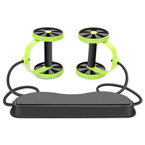 Glomab Abs Roller Taille Rad, Doppel-AB-Roller-Übungsgerät, Professionelle Ab-Rad-Rollenhalterungen, Bauch-Trainingsmaschine, Home Studio Fitness Equipment -