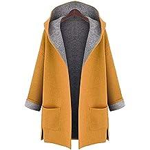 Vectry Rebajas Mujer Trenca De Color Liso Abrigo con Capucha Abrigo De Peluche Sintético La Chaqueta