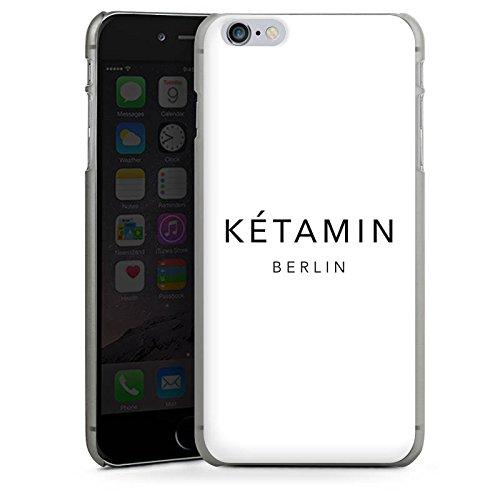 Apple iPhone X Silikon Hülle Case Schutzhülle Ketamin Berlin Luxus Hard Case anthrazit-klar