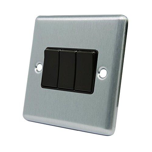 A5 Products - Interruptor de la luz 3 de pandillas - satén...