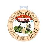 Mayka Tape Zuru Spielbaustein-Klebeband Selbstklebend – 2 Pins – Gelb – 2 Meter