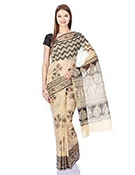 Pavechas Saree With Blouse Piece (MK2611_Beige)