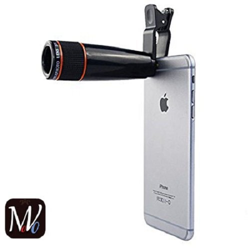 MOVO®moto Z2 play Compatible Certified Universal 12X Zoom Mobile Phone Telescope Lens with Adjustable Clip Compatible With All Android And IOS Devices (Assorted Colour)
