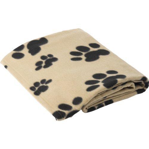 haustier-gesicht-weich-polar-fleece-hund-decke-warm-pfotenabdruck-welpe-kuschel-schwarz-oder-beige-b