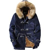 Yvelands Mens Winter Deer Terciopelo Piel Blusa Engrosamiento Abrigo Outwear Top