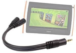 DURAGADGET Adaptateur double pour prise audio jack 3,5 mm compatible avec tablette tactile enfant Oregon Scientific Meep X2 (OP0118-13)