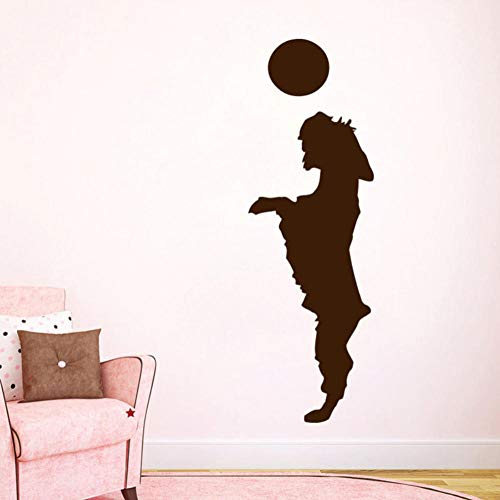 Dwqlx Welpe Spielen Mit Einem Ball Wandaufkleber Steuern Dekor Tier Hund Wandtattoos Wohnzimmer Kinder Kinderzimmer Dekoration 58 * 13