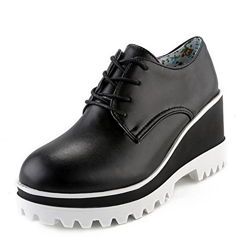 A & N - Chaussures Plateforme Femme Noires
