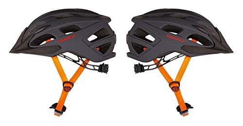 GHOST Helm Classic grau/orange/rot (53 - 58 cm)