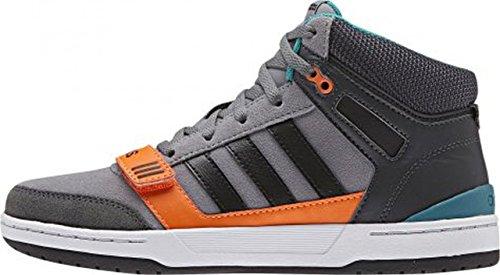 adidas Curb St Mid K, Chaussures de Sport Mixte Bébé Gris / Noir / Orange (Gris / Negbas / Narsol)