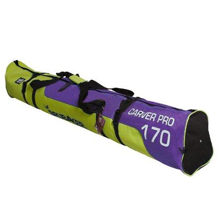 'Brubaker Carver Pro 2.0' Bolsa de esquí acolchada en 11colores especial, Gelbgrün/Lila