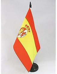 BANDERA de MESA de la RESTAURACIÓN BORBÓNICA EN ESPAÑA 1785-1931 21x14cm - BANDERINA de DESPACHO ESPAÑOLA ANTIGUA 14 x 21 cm - AZ FLAG