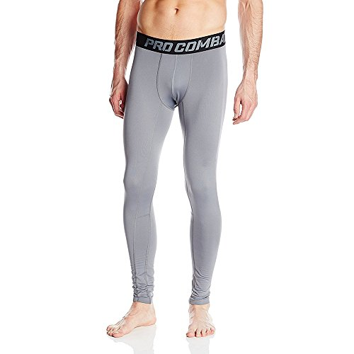 Foto de 1Bests Men's Athletic Running Basketball Compression Pants Fitness Quick-drying Pants Sports Tights Leggings (L, Gray)