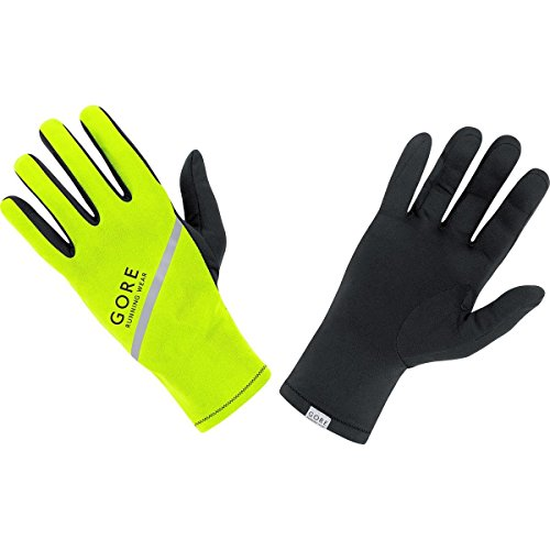 GORE RUNNING WEAR Herren Lauf-Handschuhe, Super Leicht, GORE Selected Fabrics, ESSENTIAL Light Gloves, Neongelb, 9, GESSLM