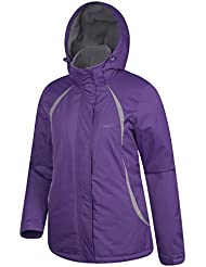 Mountain Warehouse Moon Womens Ski Jacket - Water Resistant, Adjustable Cuffs, Snow Skirt, Pockets - Exclusive Design - Ideal For Skiing, Snowboarding On Winter Holidays