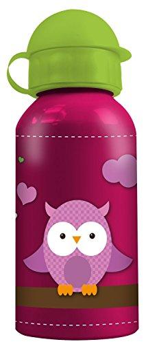 Trinken Vogel Spielzeug (p:os 23067 Aluminium Trinkflasche Eule, ca. 400 ml)