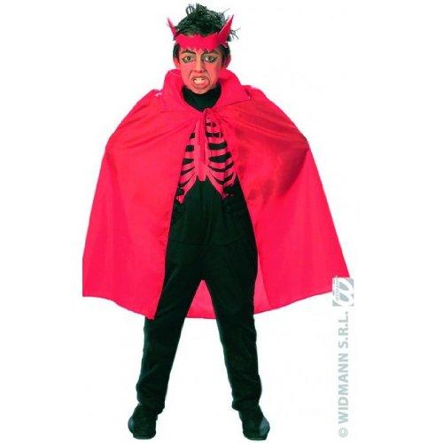 Teufel Kinder-Umhang Cape rot 90cm (Kind Teufel Freche Kostüm)