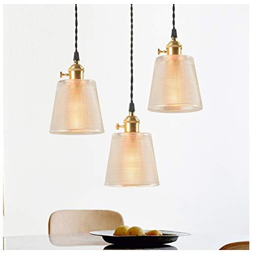 Hänge Pendelleuchten Kronleuchter Kreative 3 Kleine Pendelleuchte Einfache Persönlichkeit Kupfer Deckenbeleuchtung Restaurant Bett Glas Hängen Lampe Leuchte (3 Sätze jeweils) - Gold-metall-bett-satz