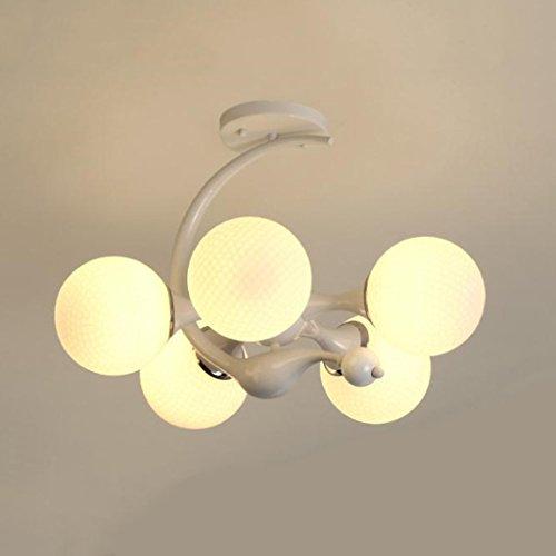 @Leuchter Kronleuchter Post Modern 5 Scheinwerfer Schatten Schlafzimmer Kronleuchter Restaurant Bar Tisch Persönlichkeit Lampe (stil : A) -