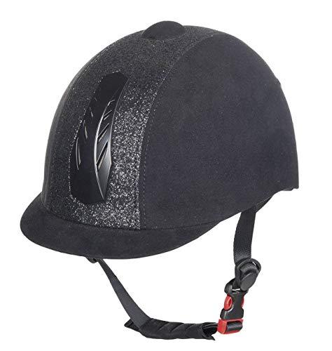 HKM Equitazione Cappello Star Model Casco da Bambino 52-61cm, Black