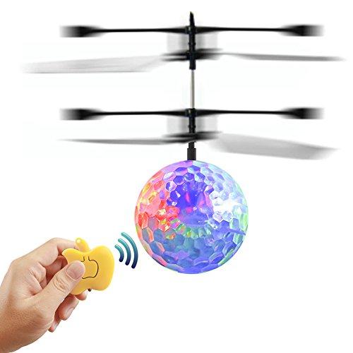 EpochAir Mini Aircraft Elicottero, Bambini in volo RC sfera LED lampeggiante Light Aircraft elicottero infrarosso RC giocattolo induzione