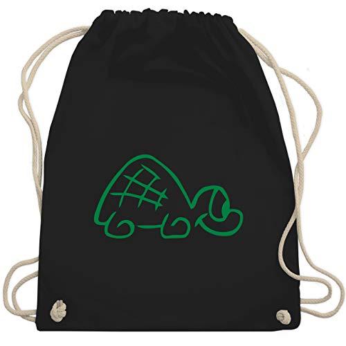 Sonstige Tiere - Schildkröte - Unisize - Schwarz - WM110 - Turnbeutel & Gym Bag