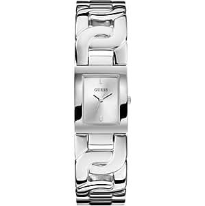 Guess - W0003L1 - Chained - Montre Femme - Quartz Analogique - Cadran Argent - Bracelet Acier Argent