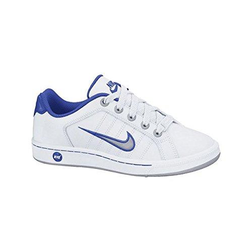 Nike Kids Cour Tradition 2 pour enfant Motif Baskets à lacets de chaussures de sport Blanc Cassé - blanc