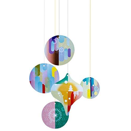 Studioroof Biglietto di auguri Five Circles, 3D in cartoncino riciclato, da montare