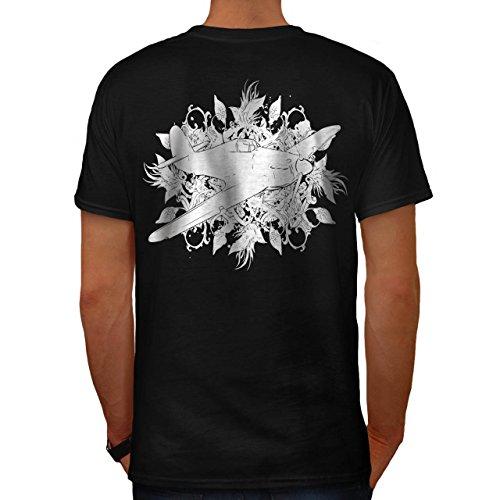 Ebene Cool Kunst Mode schaurig Flieger Herren M T-shirt Zurück | Wellcoda
