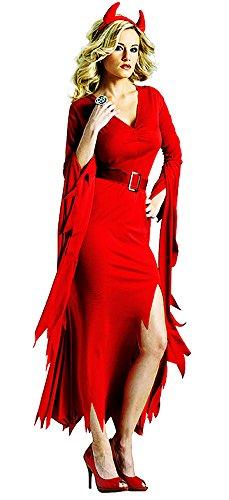 7 Neuheiten Halloween Kostüme Rot Hexe Cosplay Allerheiligen Kleider (Halloween-kostüm Ideen Für Männer 2017)