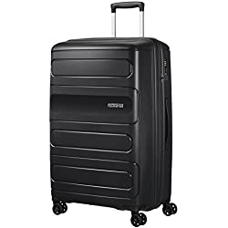 American Tourister Sunside Spinner 77 Extensible, 4.5 KG, 106/118L, Noir (Black)