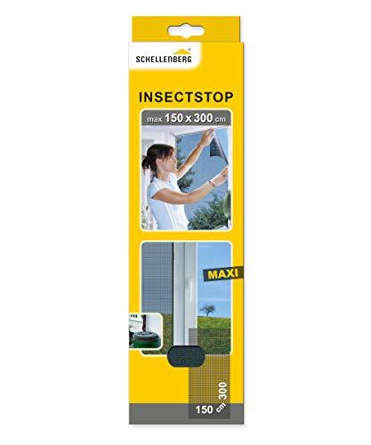 Schellenberg 50325 Fliegengitter für große Fenster Insektenschutz und Mückenschutz ohne Bohren, 150 x 300 cm