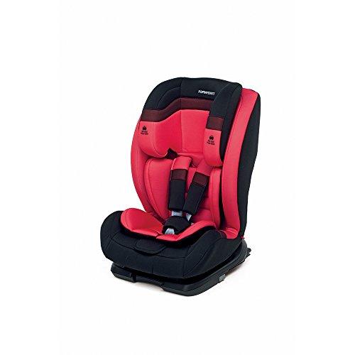 Foppapedretti Re-Klino Fix Seggiolino Auto, Gruppo 1/2/3 (9-36kg), per Bambini da 9 Mesi a 12 Anni, Rosso