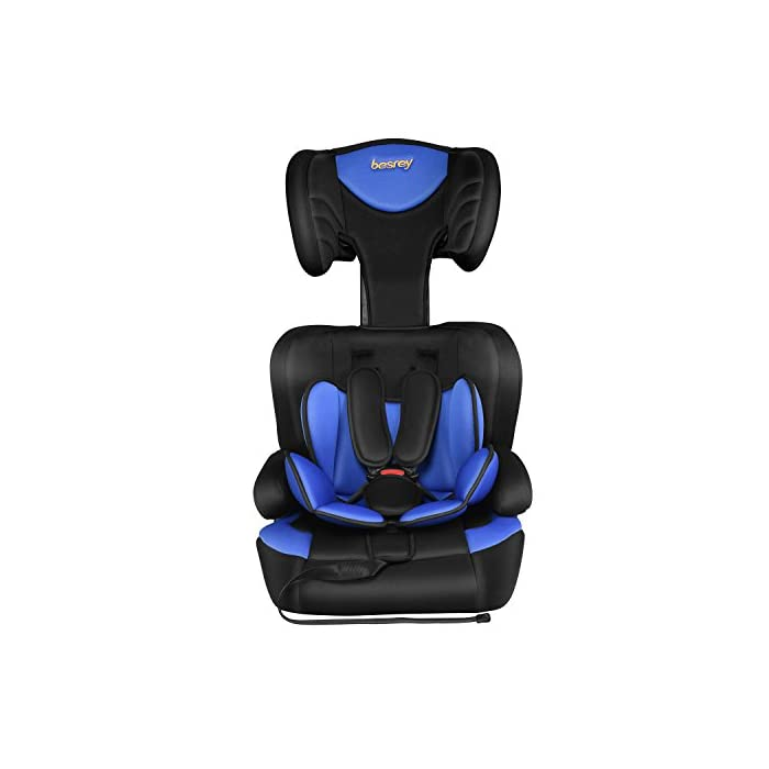 84a0ba541 Besrey Car Seat Children Group 1 2 3 Car Booster Fit from 9 Months-12 Years  – Black and Blue.   