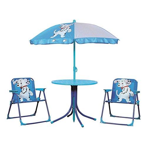 My Garden 1002288 Kinder Camping Gartenmöbel Set 2 Stühle Tisch Schirm