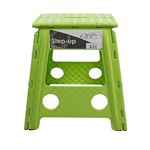 netproshop Klapphocker Step-up, Faltbarer Hocker für Stall, Haus, Camping versch. Farben, Farbe:Gruen