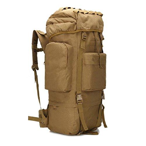 Z&N Outdoor capienza di 65-75L borsa da montagna campeggio sacco da campeggio sacca da viaggio copertura impermeabile borsa a tracolla zaino militare zaino tatticoRipstopG65L C