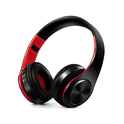 Gaming-earset (owikar Wireless Bluetooth Kopfhörer faltbar Hand frei über Ohr Noise Cancelling Stereo Wireless Sport Headset Support TF Card Head-mounted Weiche Kopfhörer für PC, Handys und TV)