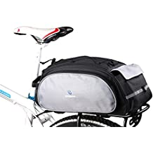 DCCN Alforja para bicicleta trasera bicicleta trasera para bicicleta de equipaje grandes rack impermeable Asiento Trasero Bolsa de transporte verde militar 13L con alta calidad
