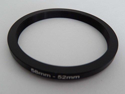 vhbw Step Down Adapter Ring Filteradapter 58mm-52mm schwarz für Kamera Panasonic, Pentax, Ricoh, Samsung, Sigma, Sony, Tamron