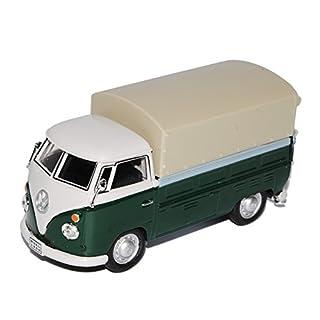 alles-meine.de GmbH VW Volkswagen T1Grün mit Weiss Pritsche Mit Hard Top Camper Van 1950to 19671/43Cararama Model Car