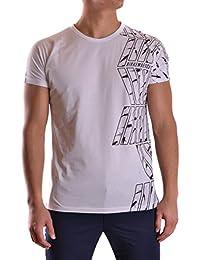 Dirk Bikkembergs Hombre C707SFDMB016A00 Blanco Algodon T-Shirt