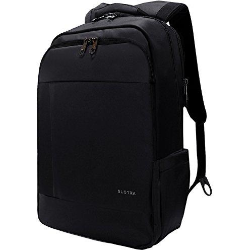 Slotra Laptop Rucksack 15,6-17 Zoll Wasserabweisend Reisen Outdoor Mordern Rucksack Schwarz Test