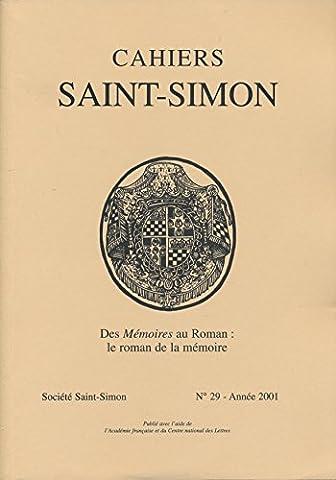 Cahiers Saint-Simon N° 29, 2001 : Des