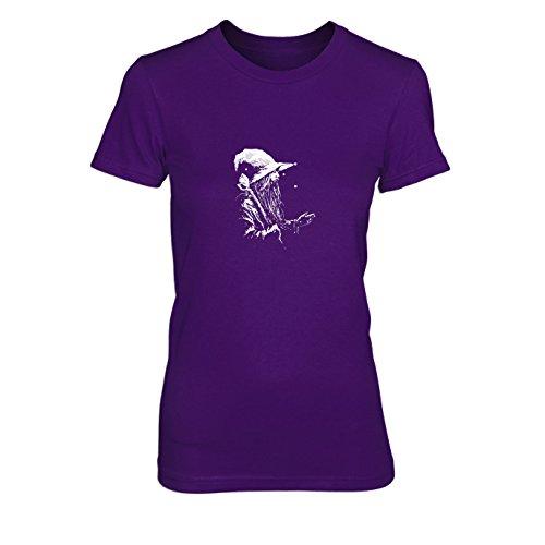 HDR: Der weiße Zauberer - Damen T-Shirt, Größe: XL, Farbe: lila